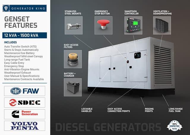 Diesel Generator for Sale South Africa | Generator Features | Generator King