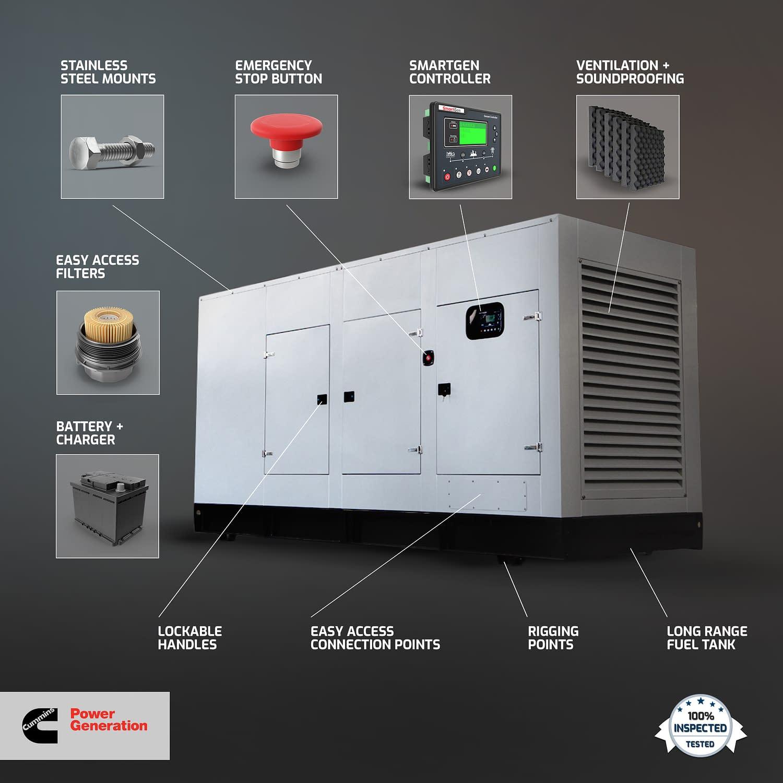 Diesel Generator for Sale | Cummins Generators Features | Generator King