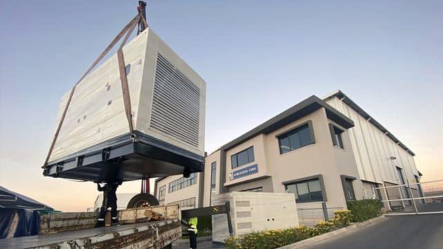 Diesel Generator being Crane Lifted | Generator King