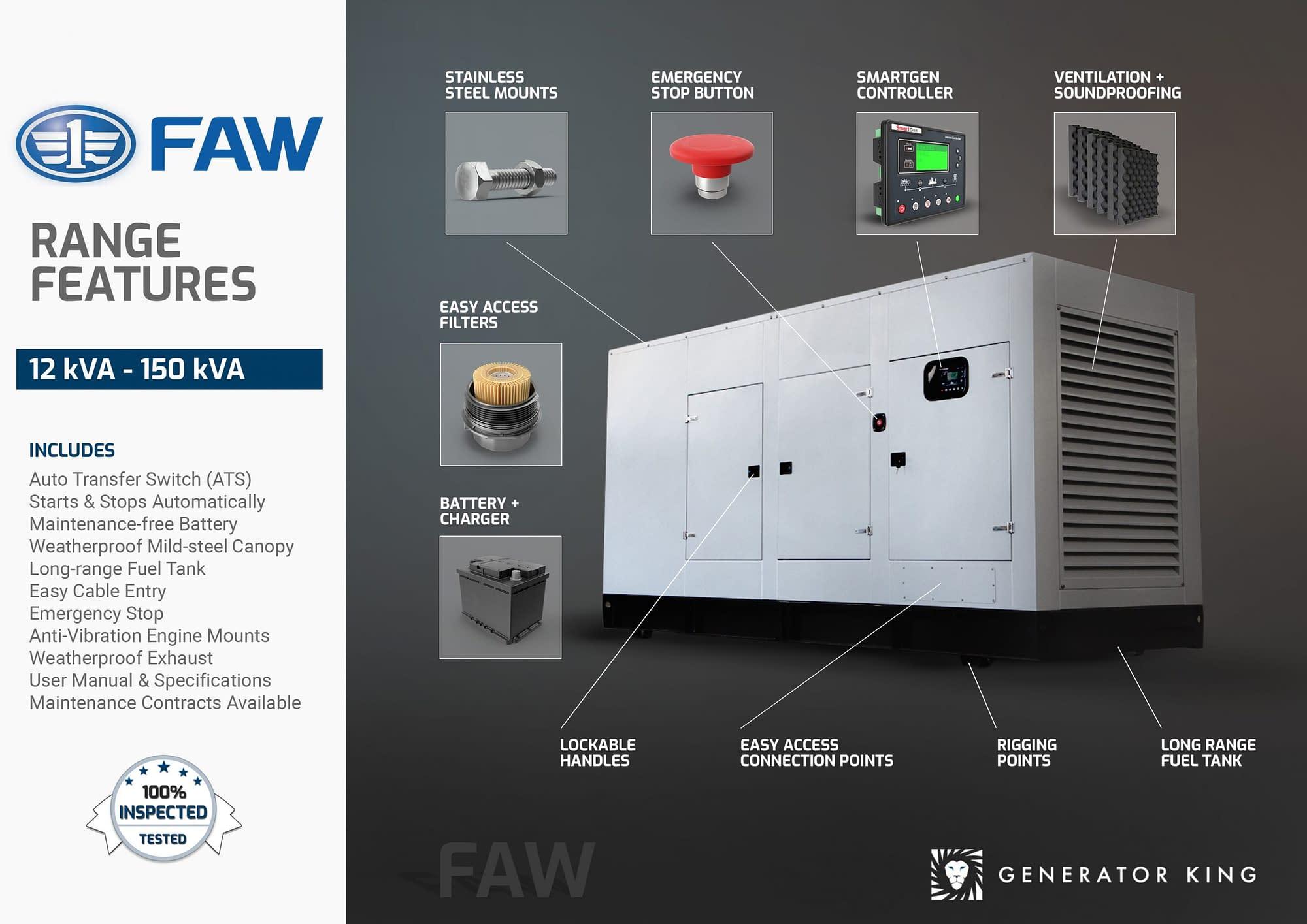 Diesel Generator for Sale | FAWDE Generators South Africa | Generator King