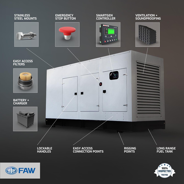 FAW Diesel Generator for Sale | FAW Generator Features | Generator King