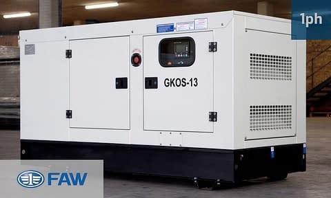 FAW 12KVA SINGLE PHASE (GKOS-13) Diesel Generator for Sale   FAW Generators South Africa   Generator King