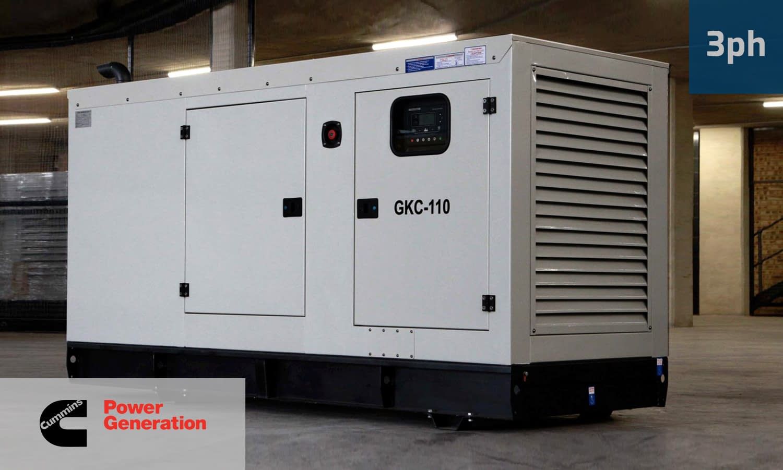 CUMMINS 100KVA 3 PHASE (GKC-110) Diesel Generator for Sale | Cummins Generators South Africa | Generator King