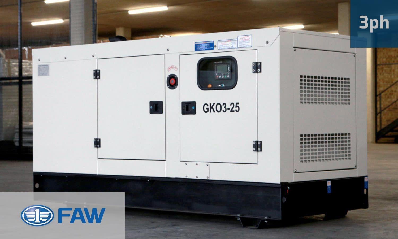 FAW 23KVA 3 PHASE (GKO3-25) Diesel Generator for Sale | FAW Generators South Africa | Generator King