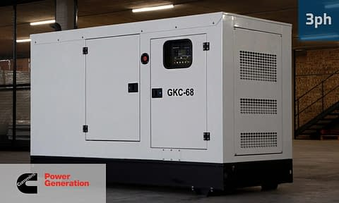 CUMMINS 62KVA 3 PHASE (GKC-68) Diesel Generator for Sale | Cummins Generators South Africa | Generator King